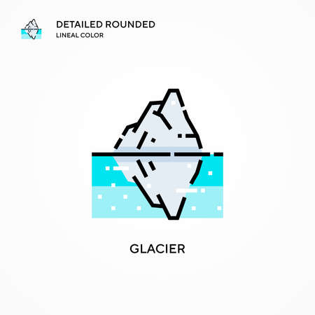 Glacier vector icon. Modern vector illustration concepts. Easy to edit and customize.