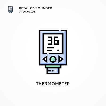 Thermometer vector icon. Modern vector illustration concepts. Easy to edit and customize.