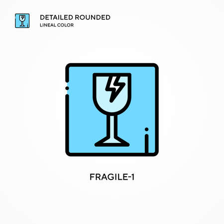 Fragile-1 vector icon. Modern vector illustration concepts. Easy to edit and customize.