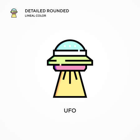 Ufo vector icon. Modern vector illustration concepts. Easy to edit and customize.