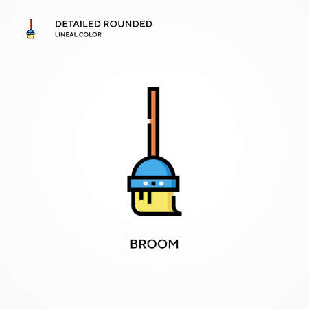 Broom vector icon. Modern vector illustration concepts. Easy to edit and customize.