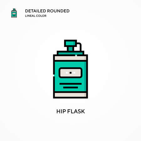 Hip flask vector icon. Modern vector illustration concepts. Easy to edit and customize.