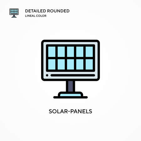Solar-panels vector icon. Modern vector illustration concepts. Easy to edit and customize.