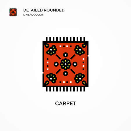 Carpet vector icon. Modern vector illustration concepts. Easy to edit and customize.