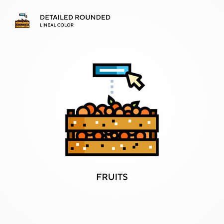 Fruits vector icon. Modern vector illustration concepts. Easy to edit and customize.