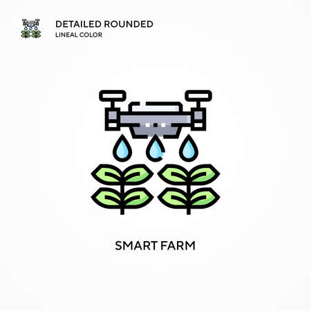 Smart farm vector icon. Modern vector illustration concepts. Easy to edit and customize.