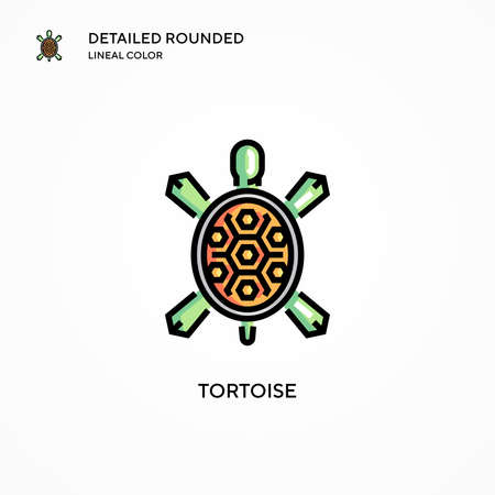 Tortoise vector icon. Modern vector illustration concepts. Easy to edit and customize. Stock Illustratie