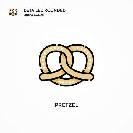 Pretzel vector icon. Modern vector illustration concepts. Easy to edit and customize.