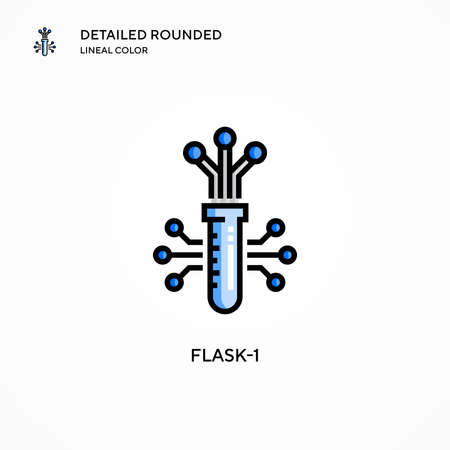 Flask-1 vector icon. Modern vector illustration concepts. Easy to edit and customize.