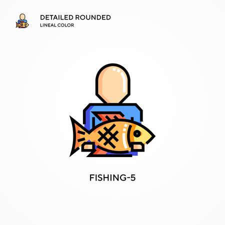 Fishing  vector icon. Modern vector illustration concepts. Easy to edit and customize.