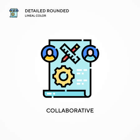 Collaborative vector icon. Modern vector illustration concepts. Easy to edit and customize.