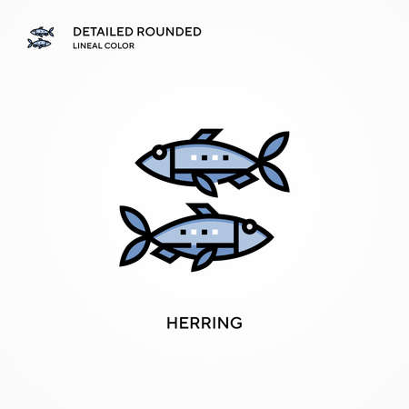 Herring vector icon. Modern vector illustration concepts. Easy to edit and customize.