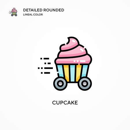 Cupcake vector icon. Modern vector illustration concepts. Easy to edit and customize.