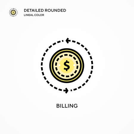 Billing vector icon. Modern vector illustration concepts. Easy to edit and customize.