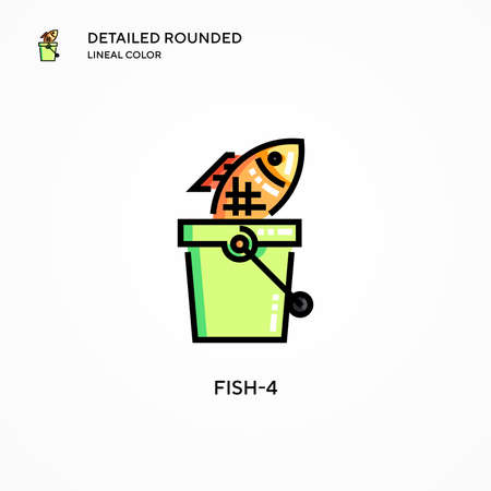 Fish-4 vector icon. Modern vector illustration concepts. Easy to edit and customize.