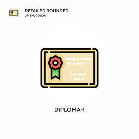 Diploma-1 vector icon. Modern vector illustration concepts. Easy to edit and customize. Çizim