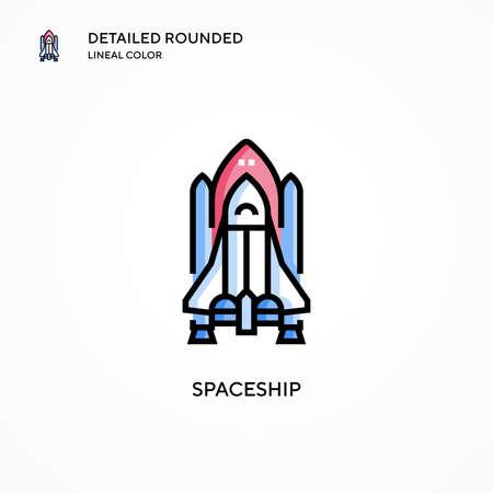 Spaceship vector icon. Modern vector illustration concepts. Easy to edit and customize. Illusztráció