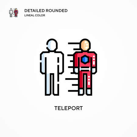 Teleport vector icon. Modern vector illustration concepts. Easy to edit and customize.
