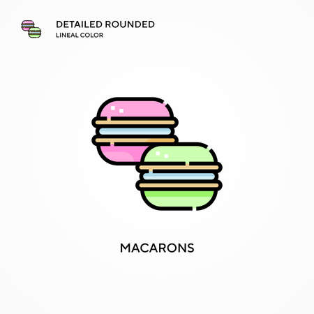 Macarons vector icon. Modern vector illustration concepts. Easy to edit and customize.