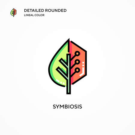 Symbiosis vector icon. Modern vector illustration concepts. Easy to edit and customize. Vectores