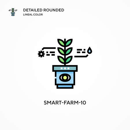 Smart-farm-10 vector icon. Modern vector illustration concepts. Easy to edit and customize.