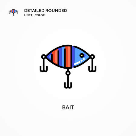 Bait vector icon. Modern vector illustration concepts. Easy to edit and customize. Stock Illustratie