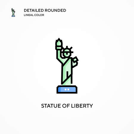Statue of liberty vector icon. Modern vector illustration concepts. Easy to edit and customize. Ilustrace