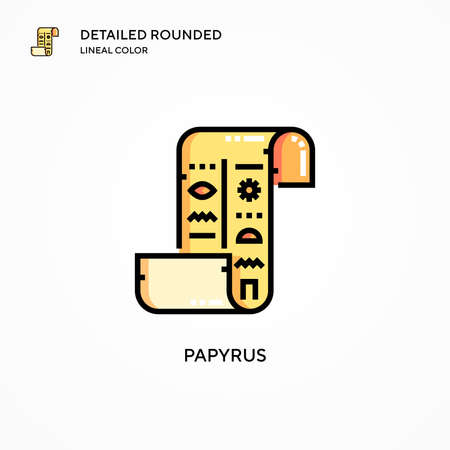 Papyrus vector icon. Modern vector illustration concepts. Easy to edit and customize.