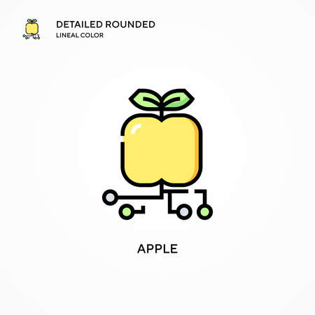 Apple vector icon. Modern vector illustration concepts. Easy to edit and customize.