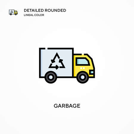 Garbage vector icon. Modern vector illustration concepts. Easy to edit and customize.