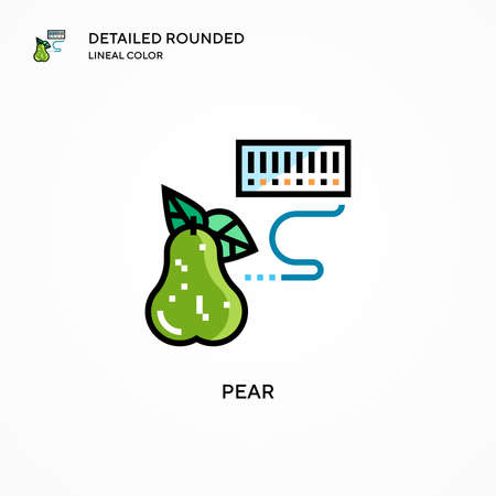 Pear vector icon. Modern vector illustration concepts. Easy to edit and customize. Stock Illustratie