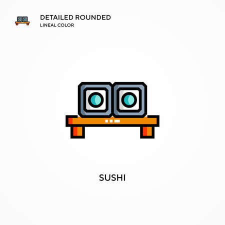 Sushi vector icon. Modern vector illustration concepts. Easy to edit and customize.