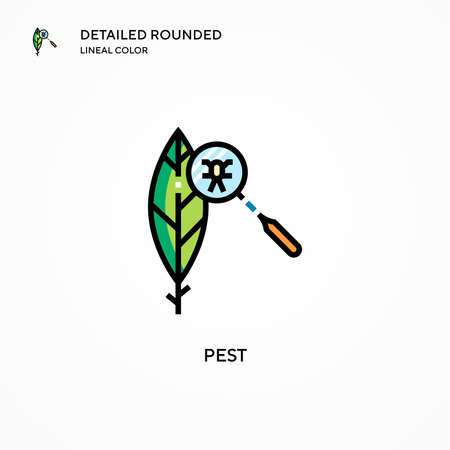 Pest vector icon. Modern vector illustration concepts. Easy to edit and customize.
