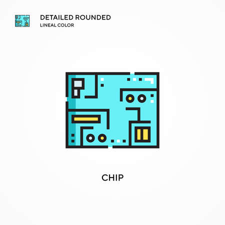 Chip vector icon. Modern vector illustration concepts. Easy to edit and customize. 일러스트