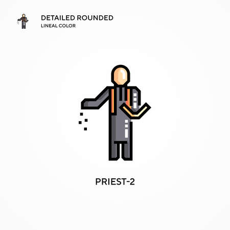 Priest-2 vector icon. Modern vector illustration concepts. Easy to edit and customize.