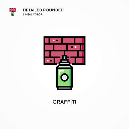 Graffiti vector icon. Modern vector illustration concepts. Easy to edit and customize.