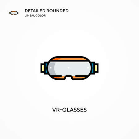 Vr-glasses vector icon. Modern vector illustration concepts. Easy to edit and customize.