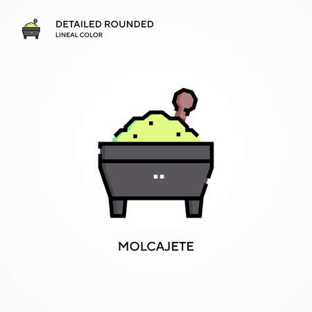 Molcajete vector icon. Modern vector illustration concepts. Easy to edit and customize.