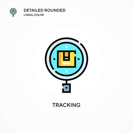 Tracking vector icon. Modern vector illustration concepts. Easy to edit and customize.