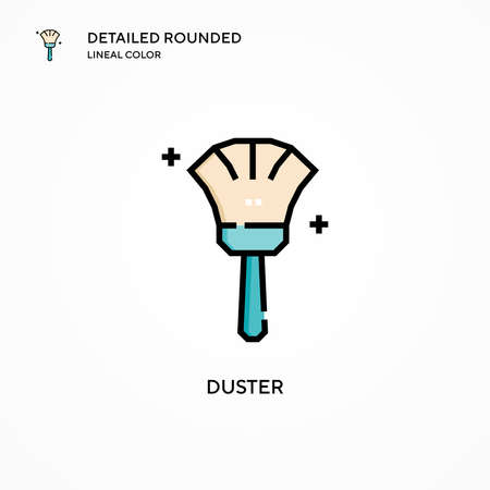 Duster vector icon. Modern vector illustration concepts. Easy to edit and customize.