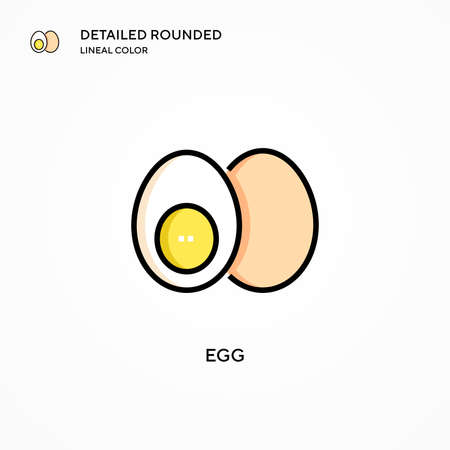 Egg vector icon. Modern vector illustration concepts. Easy to edit and customize. Stock Illustratie