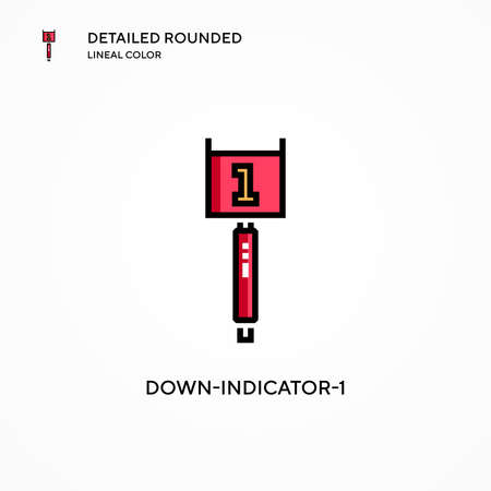 Down-indicator-1 vector icon. Modern vector illustration concepts. Easy to edit and customize.