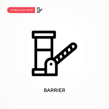 Barrier Simple vector icon. Modern, simple flat vector illustration for web site or mobile app