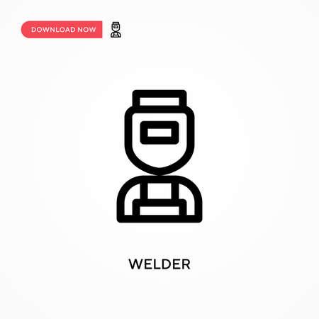 Welder Simple vector icon. Modern, simple flat vector illustration for web site or mobile app Illustration