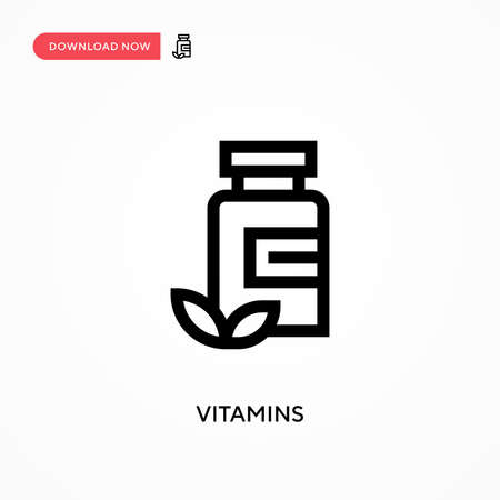 Vitamins Simple vector icon. Modern, simple flat vector illustration for web site or mobile app Çizim
