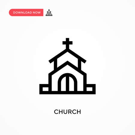 Church Simple vector icon. Modern, simple flat vector illustration for web site or mobile app
