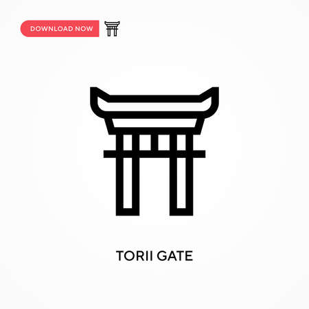 Torii gate Simple vector icon. Modern, simple flat vector illustration for web site or mobile app 向量圖像