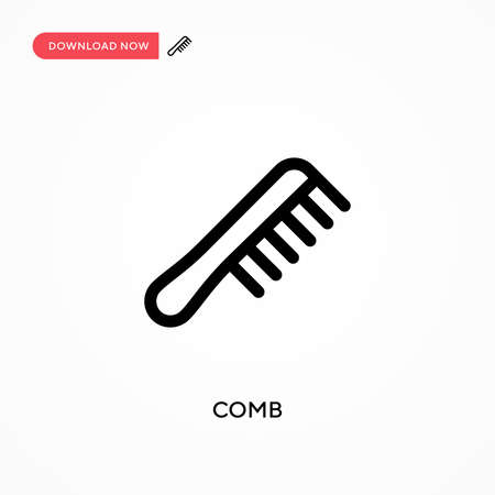 Comb Simple vector icon. Modern, simple flat vector illustration for web site or mobile app