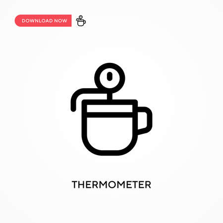 Thermometer Simple vector icon. Modern, simple flat vector illustration for web site or mobile app Ilustração