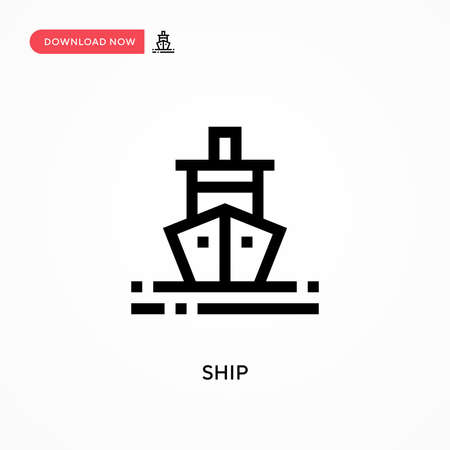 Ship Simple vector icon. Modern, simple flat vector illustration for web site or mobile app Illustration
